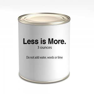 Less is more. 3 productivity tips