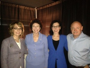 Gabby Giffords, Pam Iorio, Mark Kelly, Karen Post, speaking
