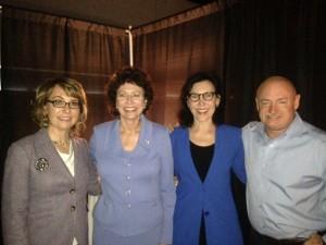 Gabby Giffords, Pam Iorio, Mark Kelly, Karen Post, speaking