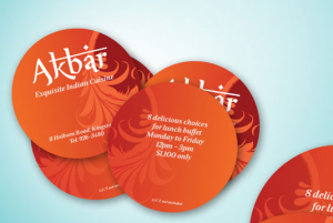 Round branded business cards