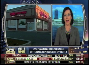 Fox Business, CVS Brand smokeless, Karen Post