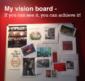 Vision board and succeed