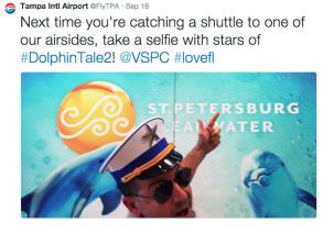 Airport branding social media