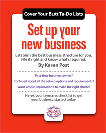 Set up your new business - to do list