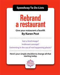 Rebrand a restaurant