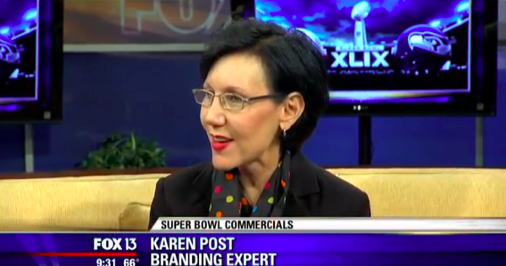 Karen Post, branding expert, Super Bowl commercials